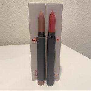 New in box set of 2 Bite matte creme lip crayons